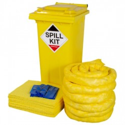 120LTR CHEMICAL SPILL KIT IN WHEELIE BIN