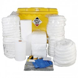 1100LTR OIL & FUEL SPILL KIT IN WHEELIE INDUSTRIAL BIN