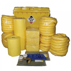 1100LTR CHEMICAL SPILL KIT IN WHEELIE INDUSTRIAL BIN